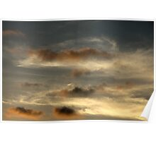 water-coloured sky Poster
