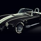  Shelby Cobra 427 Black with White Stripe by Marc Orphanos
