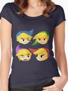 Legend of Zelda Four Swords Women's Fitted Scoop T-Shirt