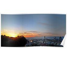 Florentine skyline at sunset Poster