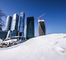 Moscow Skyline in Winter by Fabian Lackner