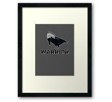 Crow warrior  Framed Print