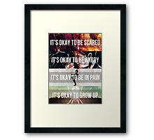 It's Okay - MCR Framed Print