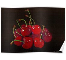 Ripe Cherries Poster