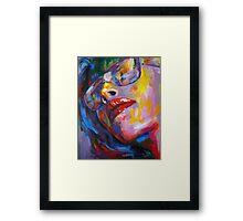 goggled woman Framed Print