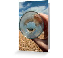 A Clear Half Pint Greeting Card