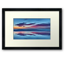 Purple Clouds on a Blue Sea Framed Print