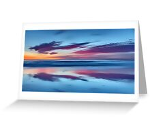 Purple Clouds on a Blue Sea Greeting Card
