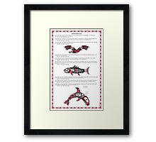 Chinook Litany Poster with Illustrations Framed Print