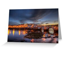 Tavira At Night Greeting Card