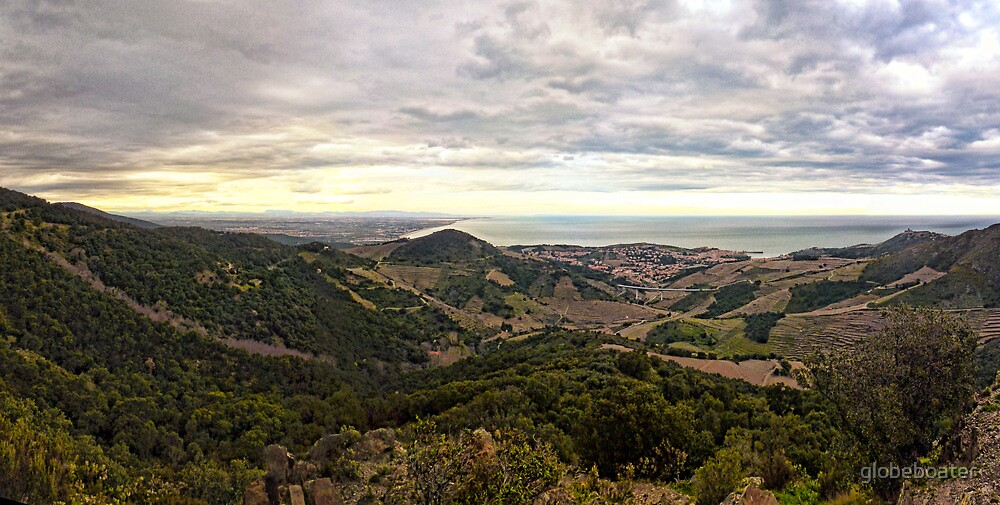 French coastline between Collioure and Canet by globeboater