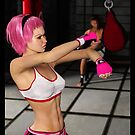 Punched - Female Boxer by Liam Liberty