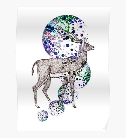 Bubble Antelope  Poster
