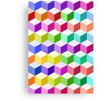 Cube Pattern Multicolored Canvas Print