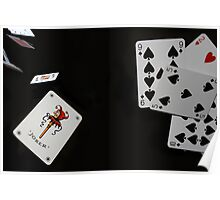 Deck of cards in the air Poster