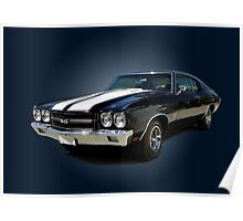 1970 Chevrolet Chevelle SS [on blue] Poster