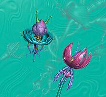 Drone & Flower by aplurabelle