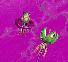 Drone & Flower (In Pink) by aplurabelle