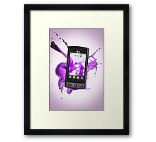 LG Mobile Phone Framed Print