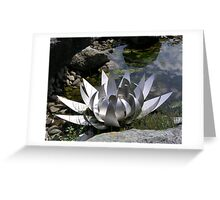 Sculptured Water Lily Greeting Card