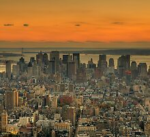 Manhattan Skyline by AJM Photography