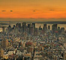 Manhattan Skyline by AJM Photography
