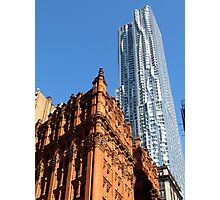 The old with the new, New York City  Photographic Print