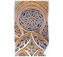 Rosácea. Rose window. Batalha Monastery. Poster