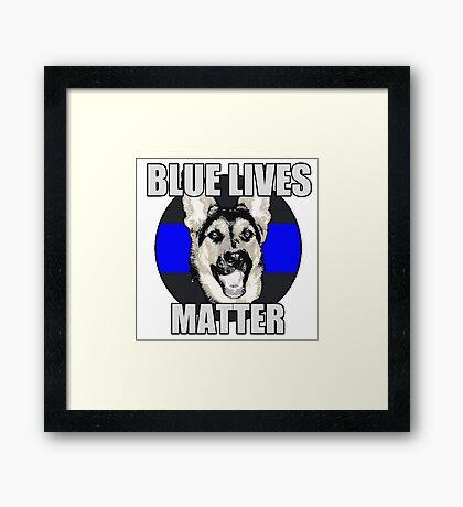 Blue Lives Matter   Framed Print