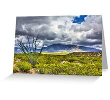 North Franklin Mountain Greeting Card