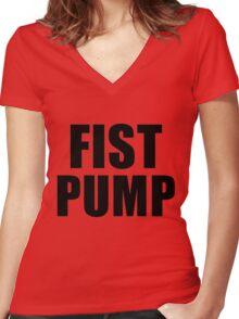 Fist Pump The Regular Show Women's Fitted V-Neck T-Shirt