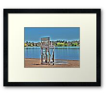 Life Guard Chair Framed Print