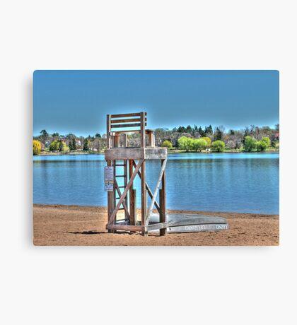 Life Guard Chair Canvas Print