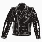 Black Leather Jacket by GASOLINE DESIGN