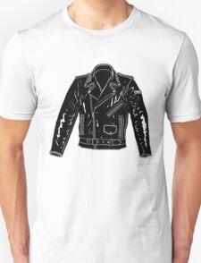 Black Leather Jacket T-Shirt