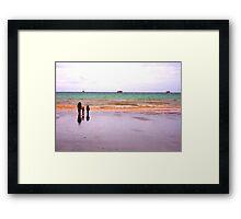 Three - The sea - Puerto Madryn Argentina Framed Print