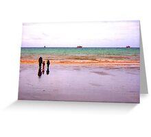Three - The sea - Puerto Madryn Argentina Greeting Card