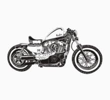 Motorcycle Illustration by GASOLINE DESIGN