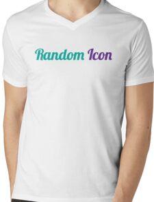 Random Icon Grapes Mens V-Neck T-Shirt