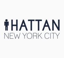 Man hattan Tee - New York City - Yankee Blue Lettering by manhattantee