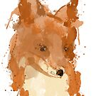 Painted Fox by minun3