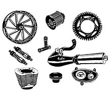 Parts & Accessories Illustration Photographic Print