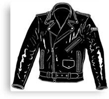 Black Leather Jacket Canvas Print