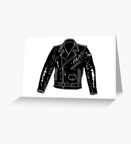 Black Leather Jacket Greeting Card