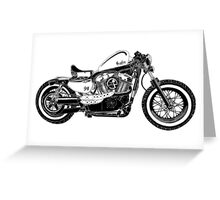 Motorcycle Illustration Greeting Card