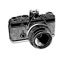 Camera Illustration Photographic Print