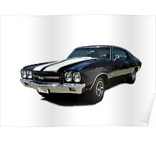 1970 Chevrolet Chevelle SS [clear background] Poster