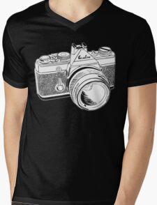 Camera Illustration Mens V-Neck T-Shirt