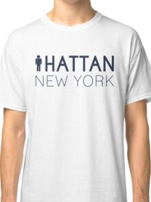 Man hattan Tee - New York - Yankee Blue Lettering Classic T-Shirt