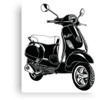 Modern Scooter Illustration Canvas Print